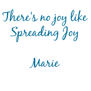no joy like spreading joy