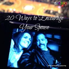 20 Easy Ways to Encourage your Spouse