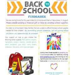 Please Give Love and Hope With Basic School Supplies