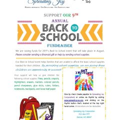 9th Annual School Supply Drive