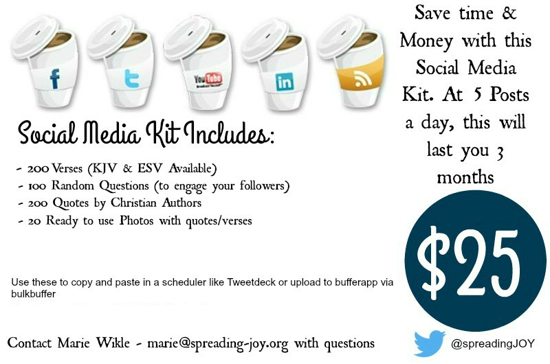 Get your Christian Social Media Kit for $25 spreading-joy.org